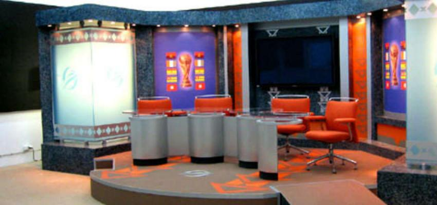 Professional indoor TV studios for the sports sector - FITOUT